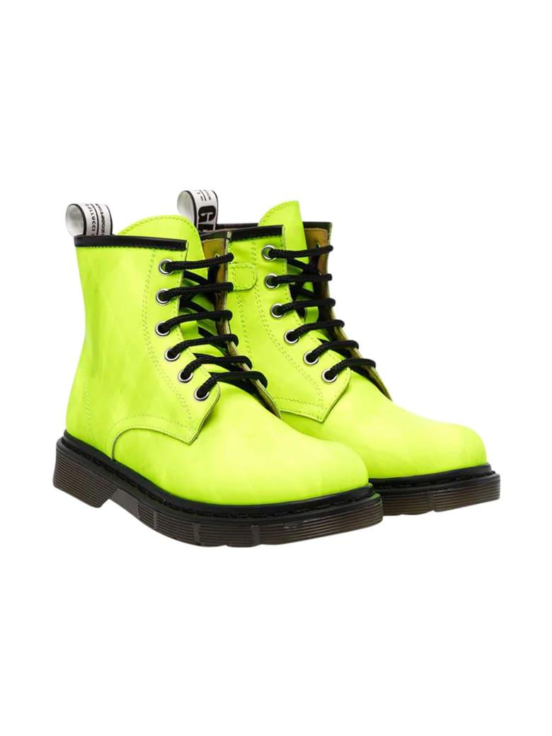 Gallucci Kids Green Combat Boots - Verde