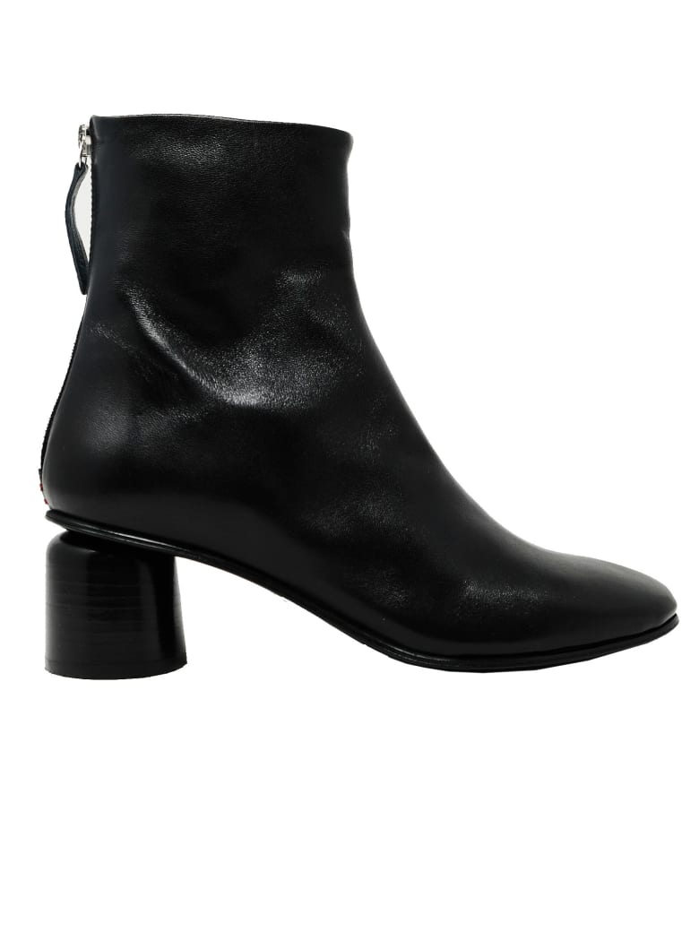 Halmanera Anya13black Leather Ankle Boots - BLACK