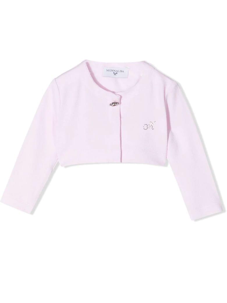 Monnalisa Pink Cropped Cardigan - Rosa