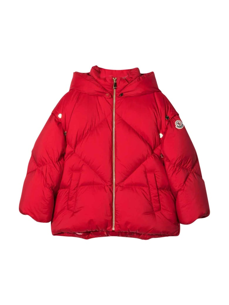 Moncler Unisex Red Down Jacket - Rosso