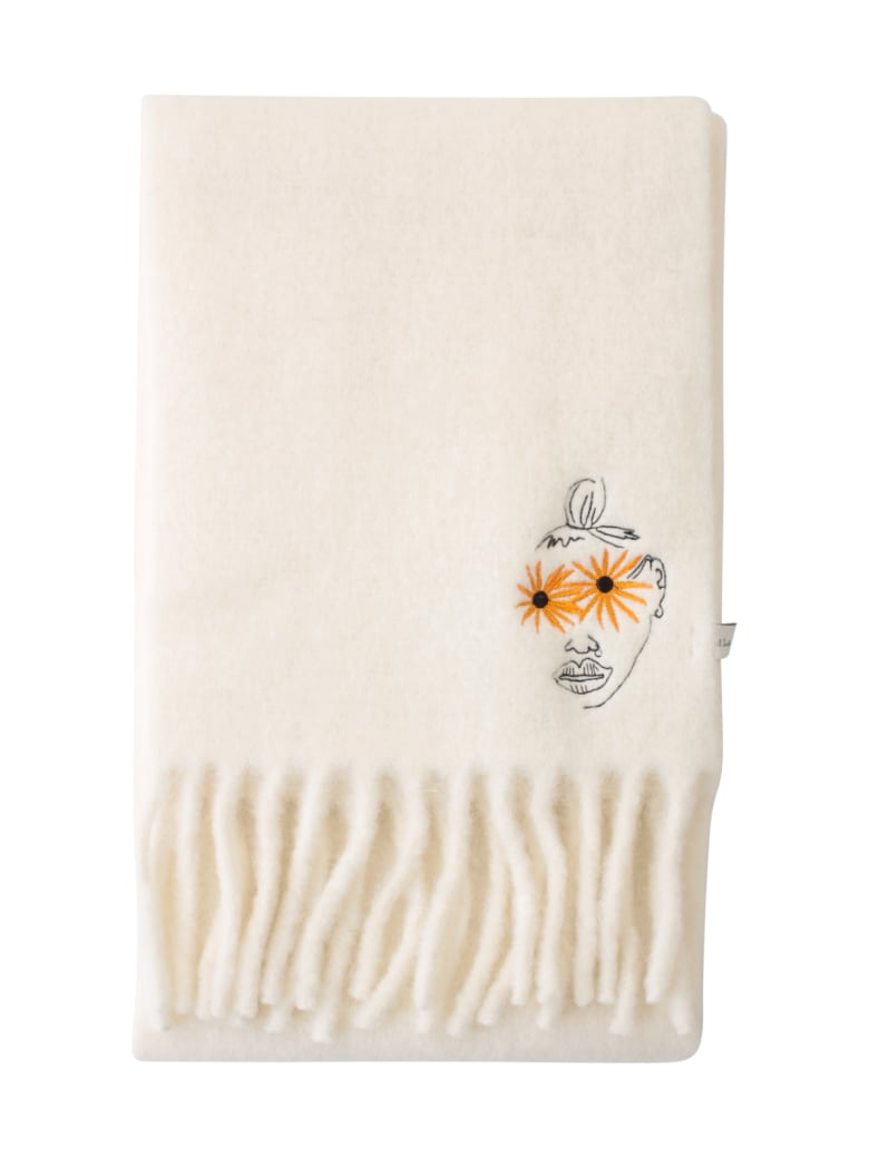 PS by Paul Smith Alpaca Scarf W/fringes - Offw