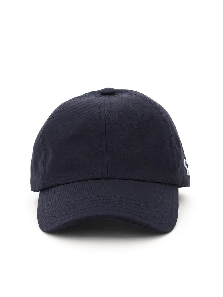 Maison Kitsuné Baseball Cap Tricolor Fox Patch - NAVY (Blue)