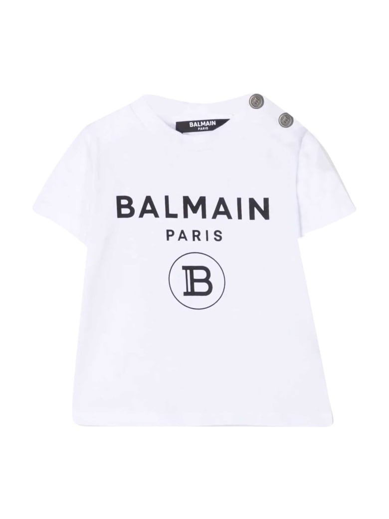 Balmain T-shirt With Print - Bianco