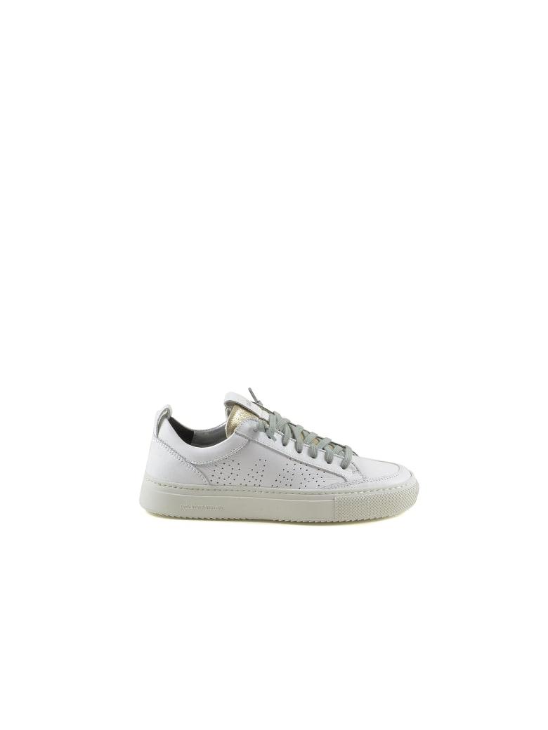 P448 White/platinum Leather Women's Sneakers - White