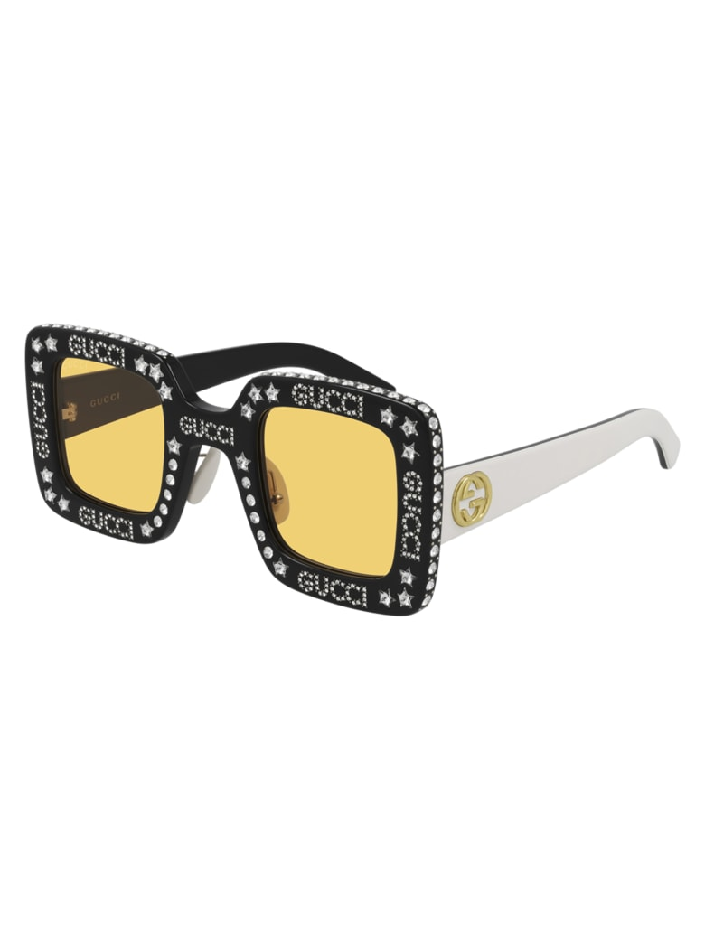 Gucci GG0780S Sunglasses - Black Ivory Yellow