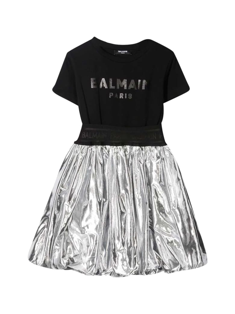 Balmain Black Dress Teen - Nero