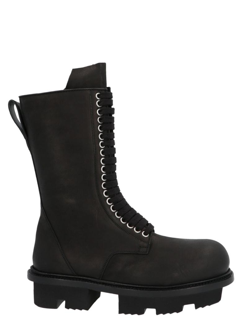 Rick Owens 'army Bozo Megatooth' Shoes - Black