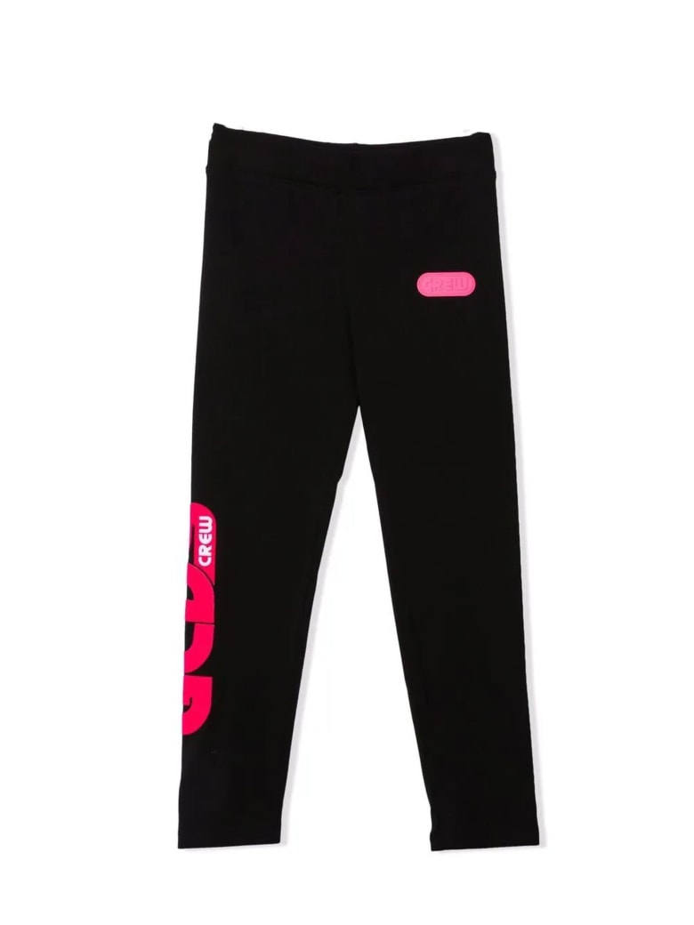 GCDS Black Stretch-cotton Track Trousers - Nero