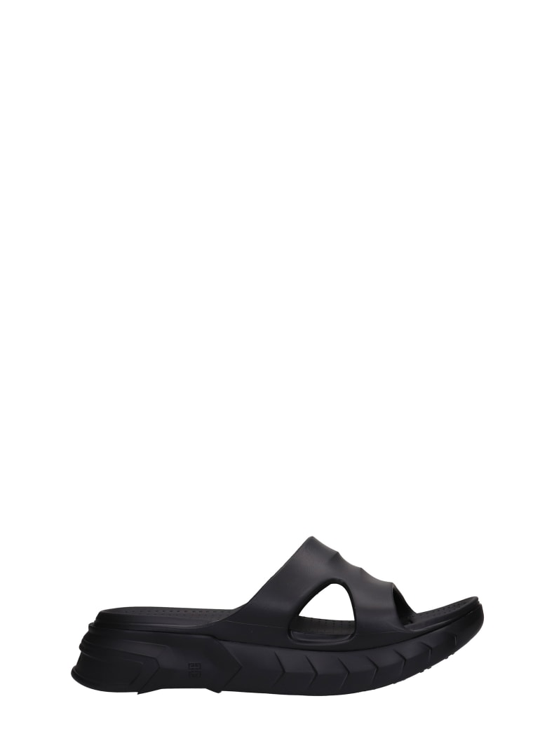 Givenchy Marshmallow Flats In Black Rubber/plasic - black