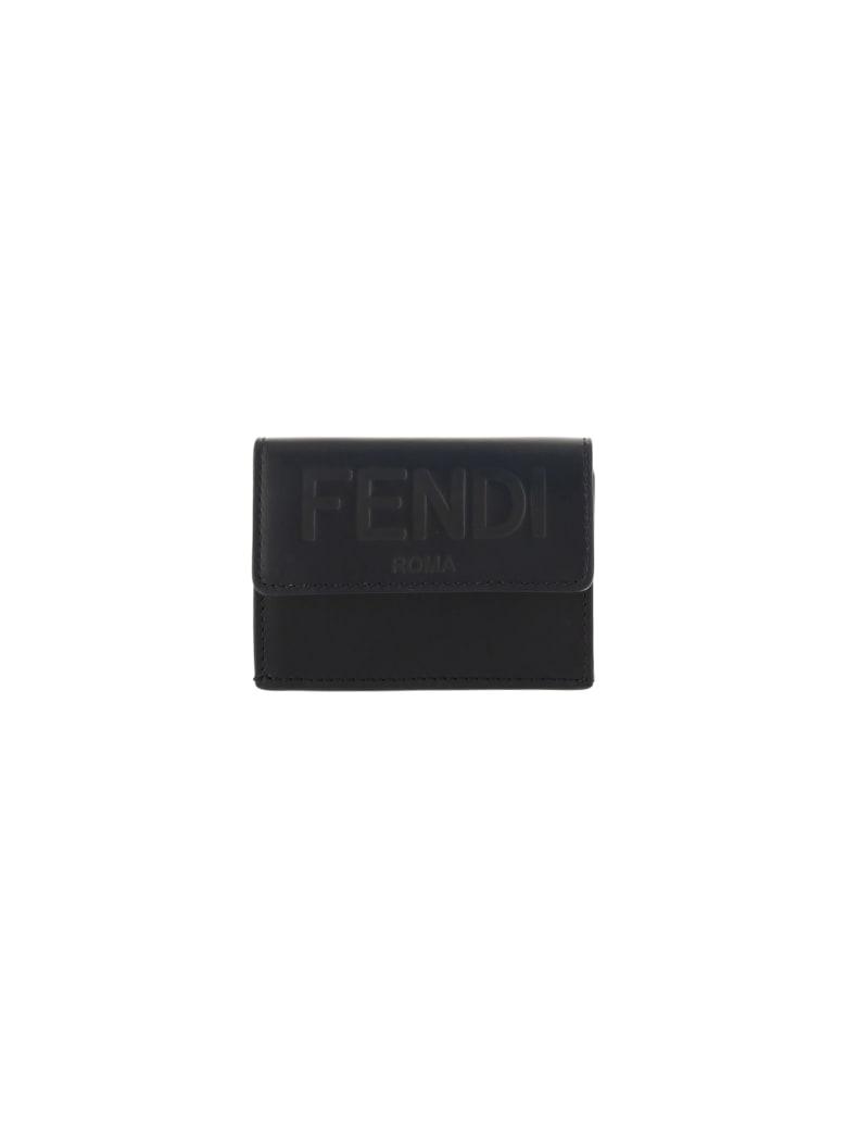 Fendi Wallet - Nero+oro soft