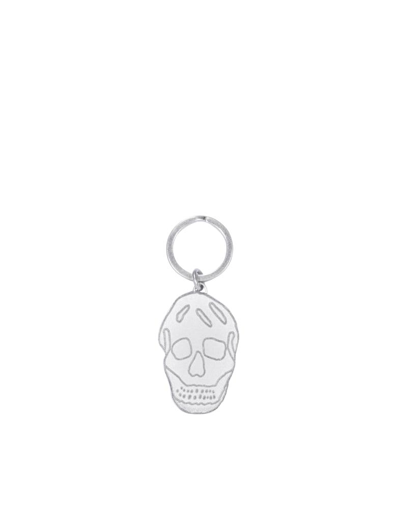 Alexander McQueen Skull Keyring - Silver