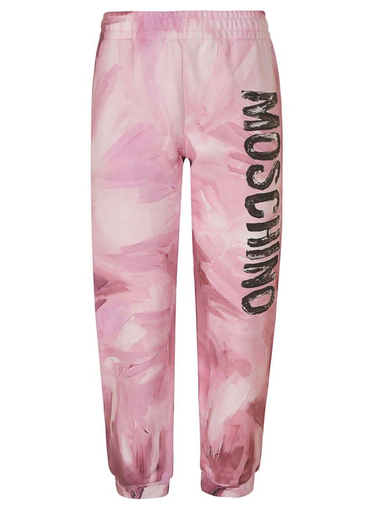 Moschino Logo Print Trousers - Pink