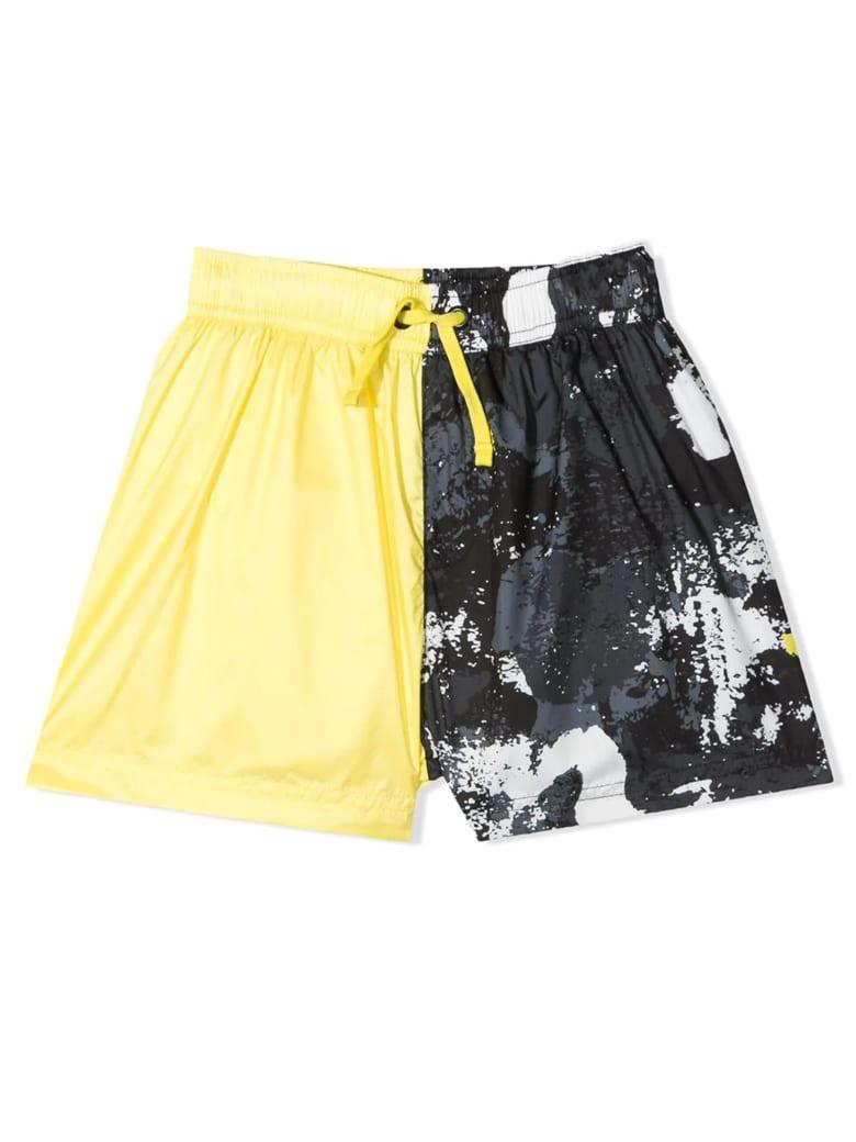Marcelo Burlon Yellow And Black Swim Shorts - Giallo+nero