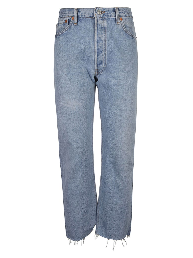 RE/DONE Ultra High Rise Stove Pipe Jeans - Indigo