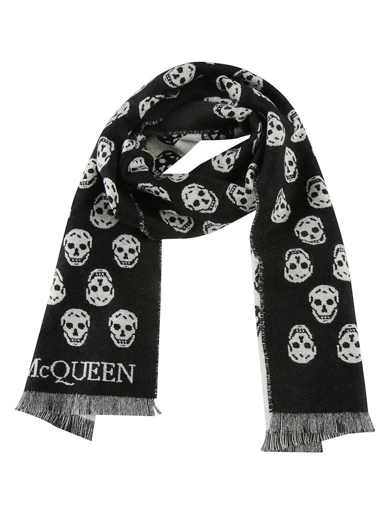Alexander McQueen Reversible Skull Scarf - Nero