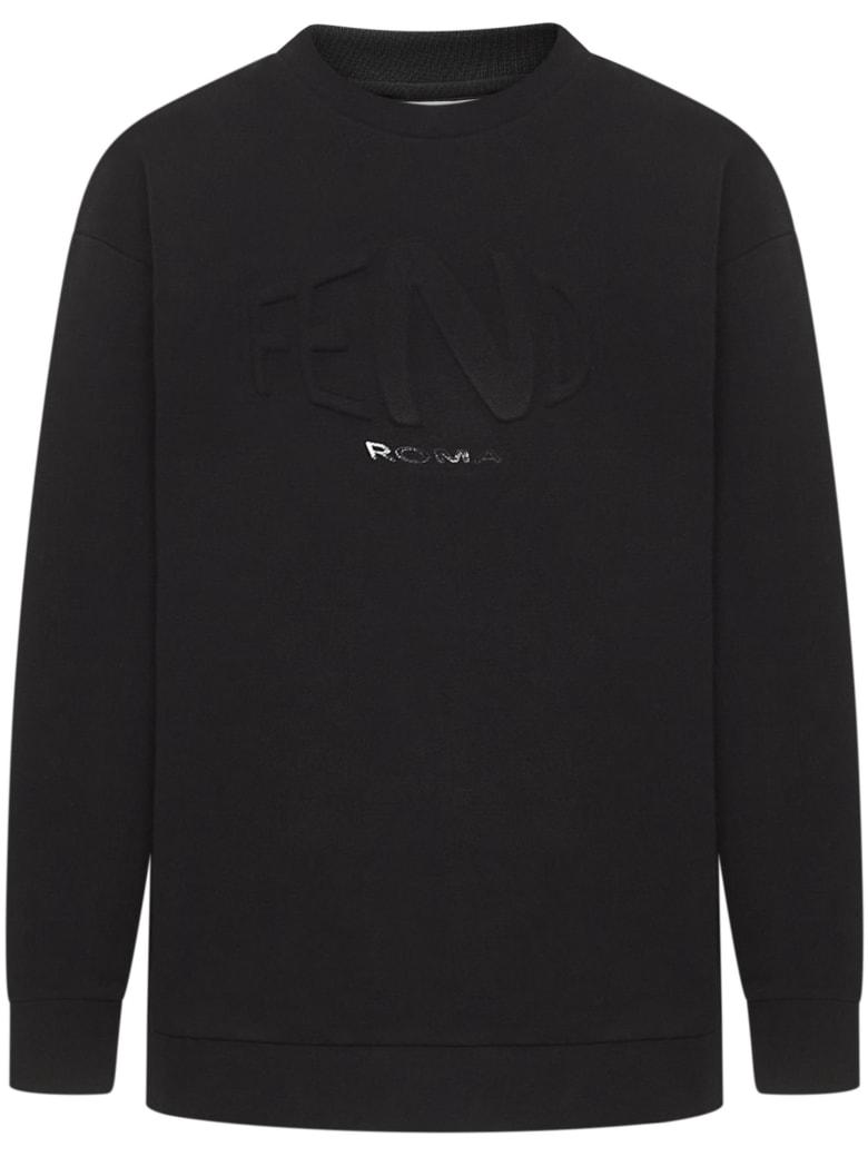 Fendi Kids Sweatshirts - Black