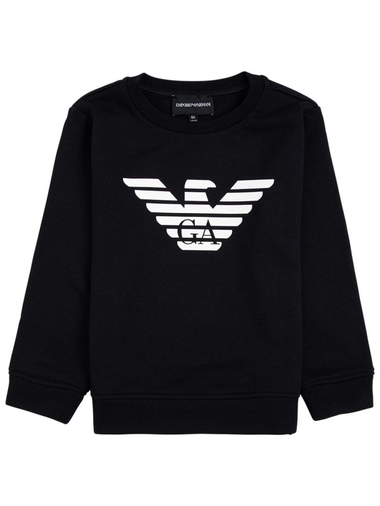 Emporio Armani Blue Modal Blend Sweatshirt With Logo - Blu