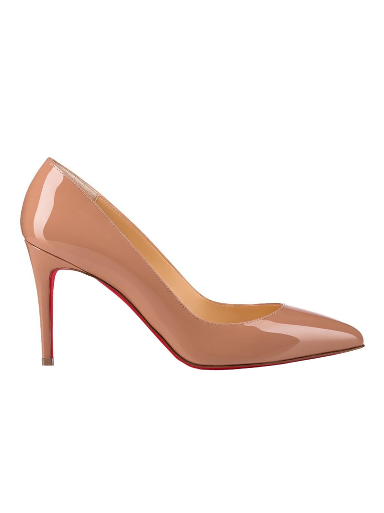 Christian Louboutin Nude Patent Leather Pumps - NUDE