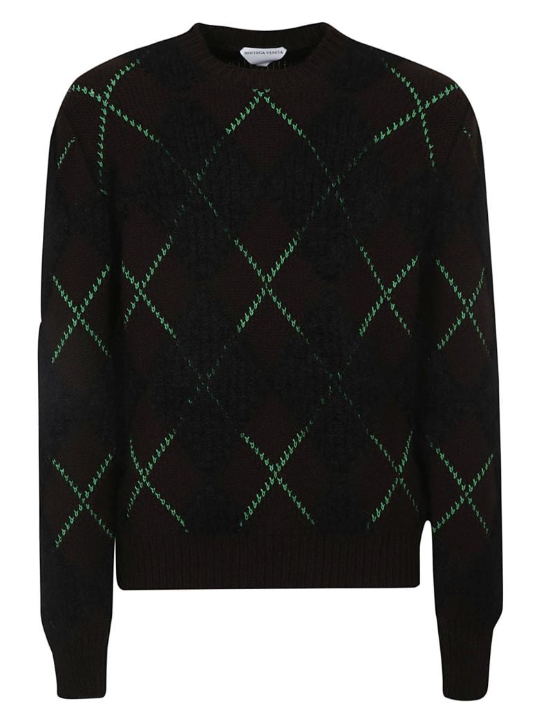 Bottega Veneta Argyle Sweater - Fon Black