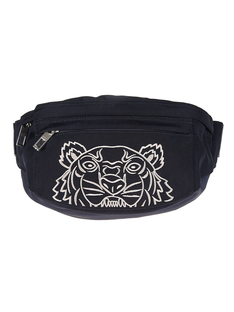 Kenzo Spring Embroidered Belt Bag - Midnight Blue