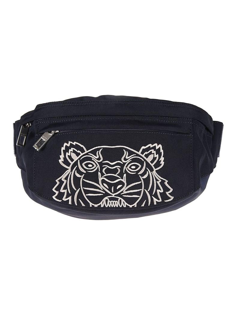 Kenzo Spring Embroidered Belt Bag - Midnight Blue