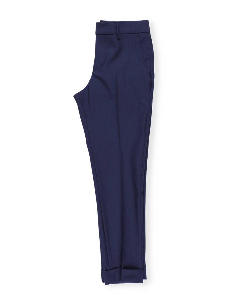 Fay Virgin Wool Trouser - Blue