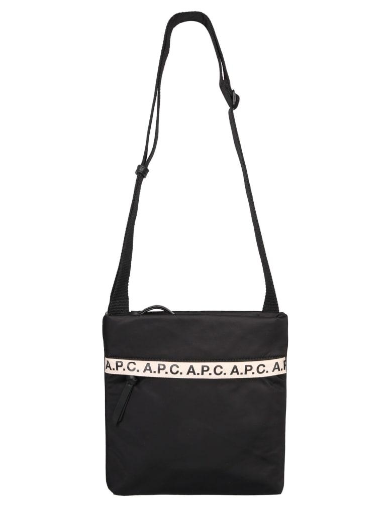 A.P.C. Shoulder Bag With Logo - NERO