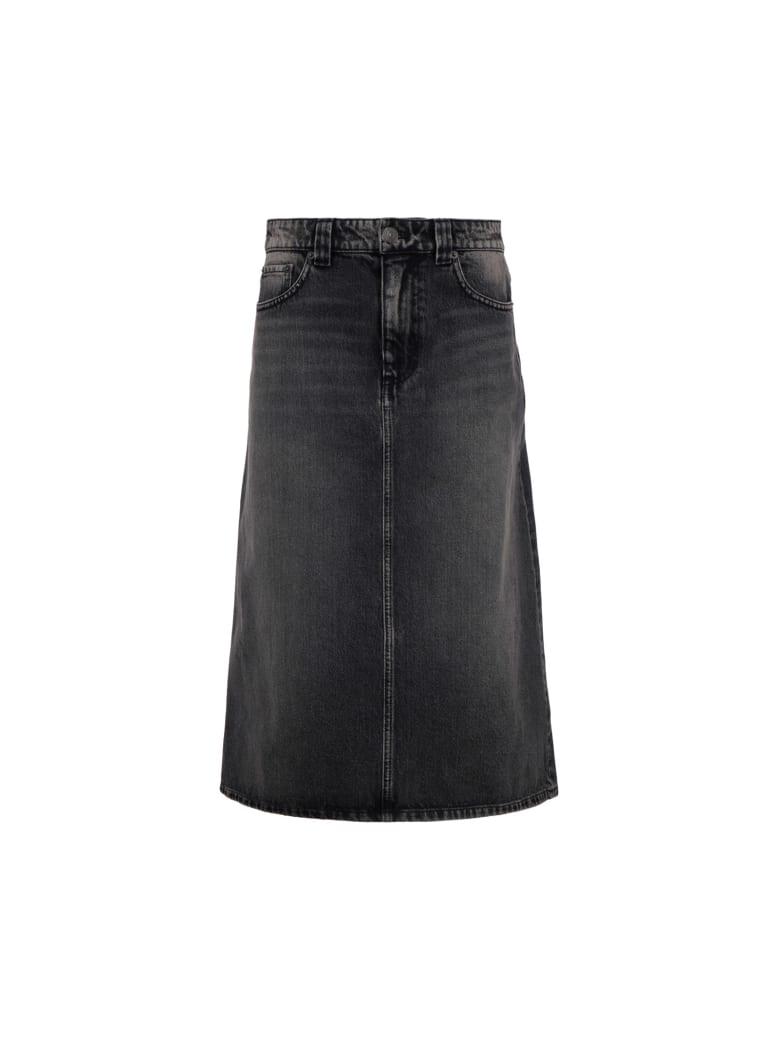 Balenciaga Denim Skirt - Denim black