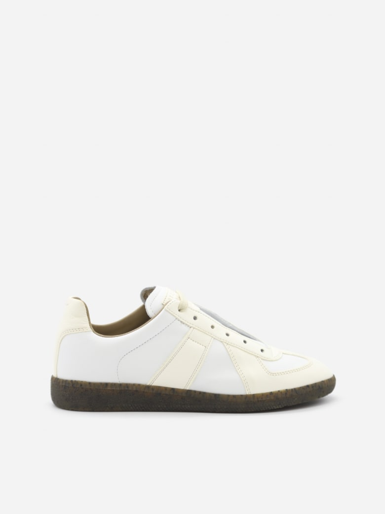 Maison Margiela Replica Leather Sneakers With Contrasting Inserts - T1003