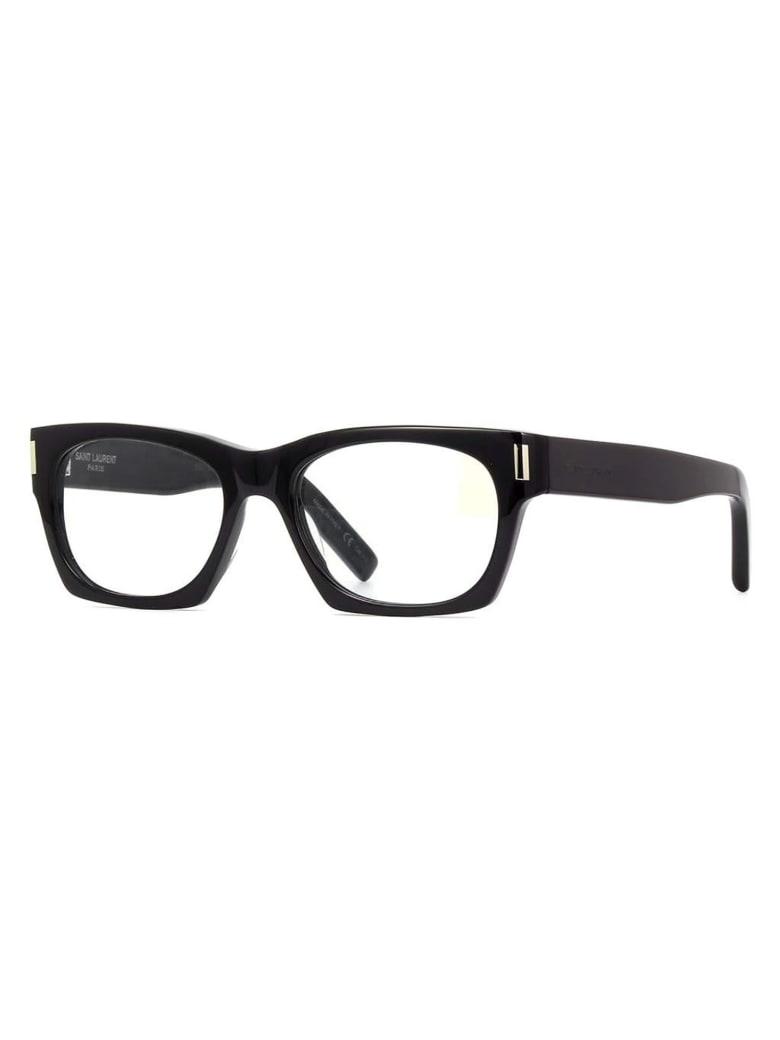 Saint Laurent SL 402 Sunglasses - Black Black Grey