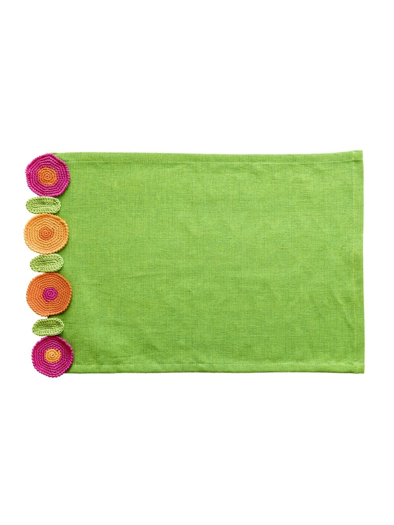 Le Botteghe su Gologone Placemats Crochet 35x45 Cm - Lime Green