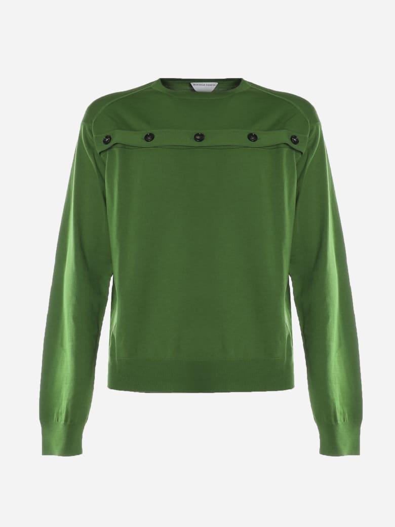 Bottega Veneta Wool Buttoned Knitwear - Lizard
