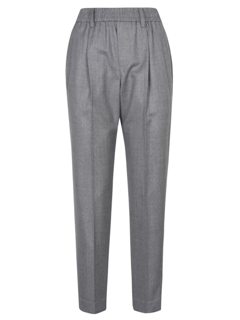 Brunello Cucinelli Rib Cropped Trousers - Pearl Grey
