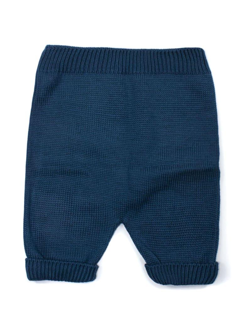 Little Bear Green Cotton Trousers - Petrolio
