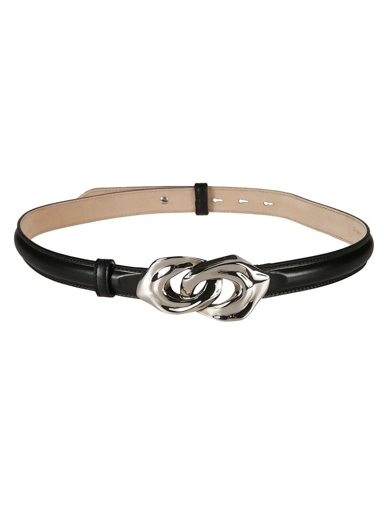 Alexander McQueen Logo Detail Belt - Nero