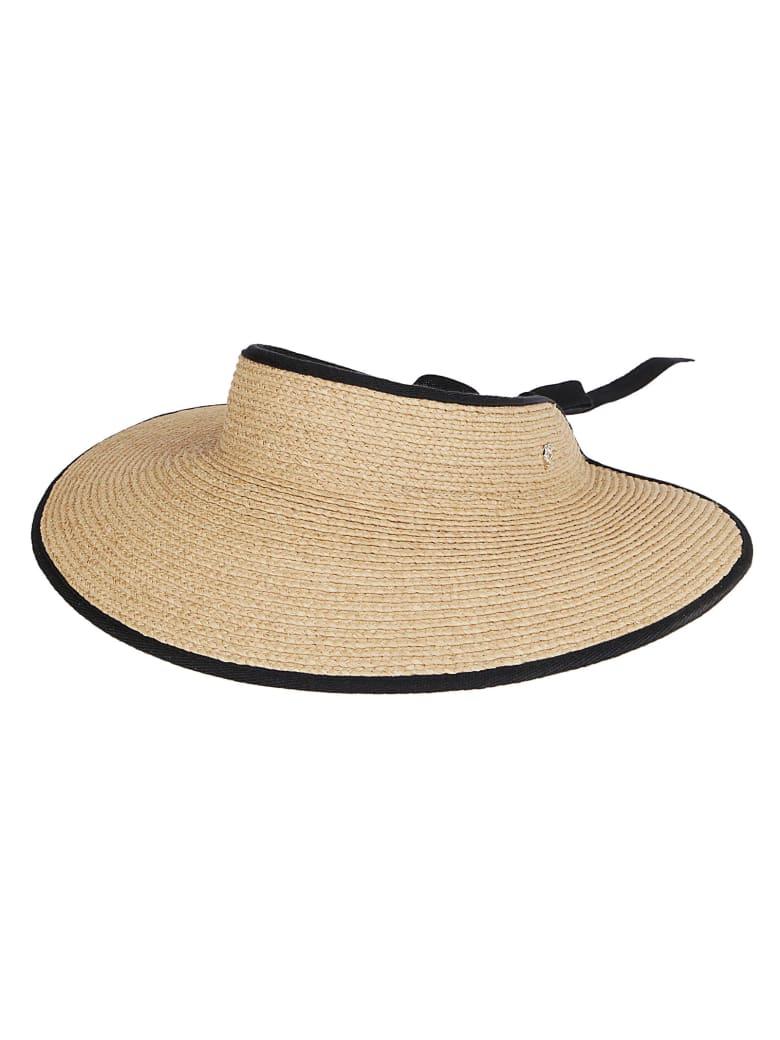 Helen Kaminski Natural Raffia Mita Visor Hat - NATURAL - BLACK