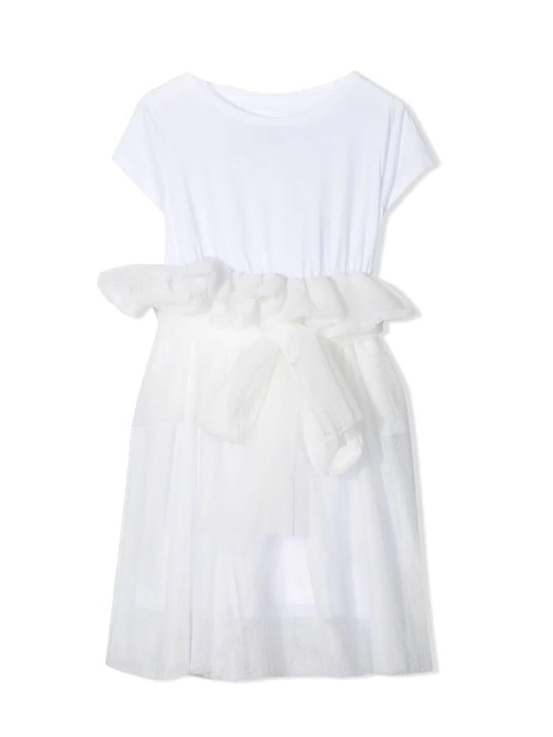 Douuod White Cotton T-shirt Dress - Bianco
