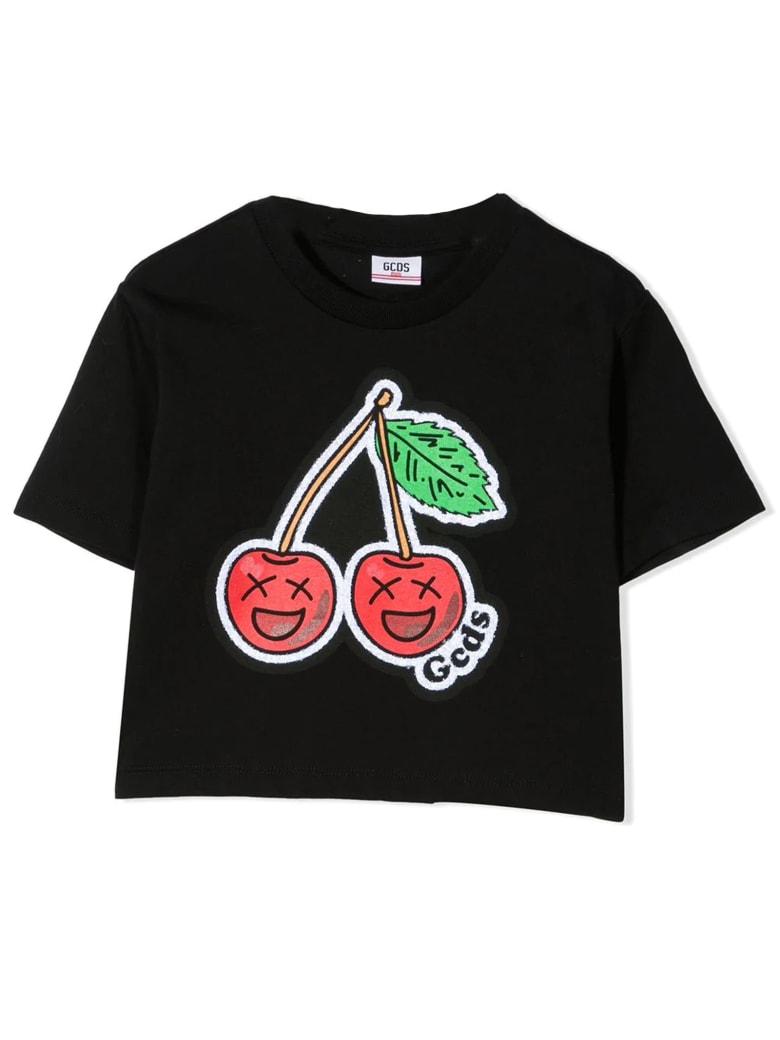 GCDS Black Cotton T-shirt - Nero
