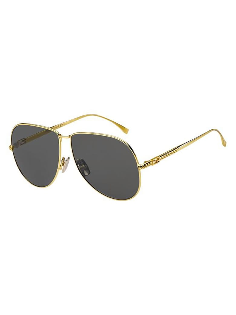 Fendi FF 0437/S Sunglasses - /ir Yellow Gold