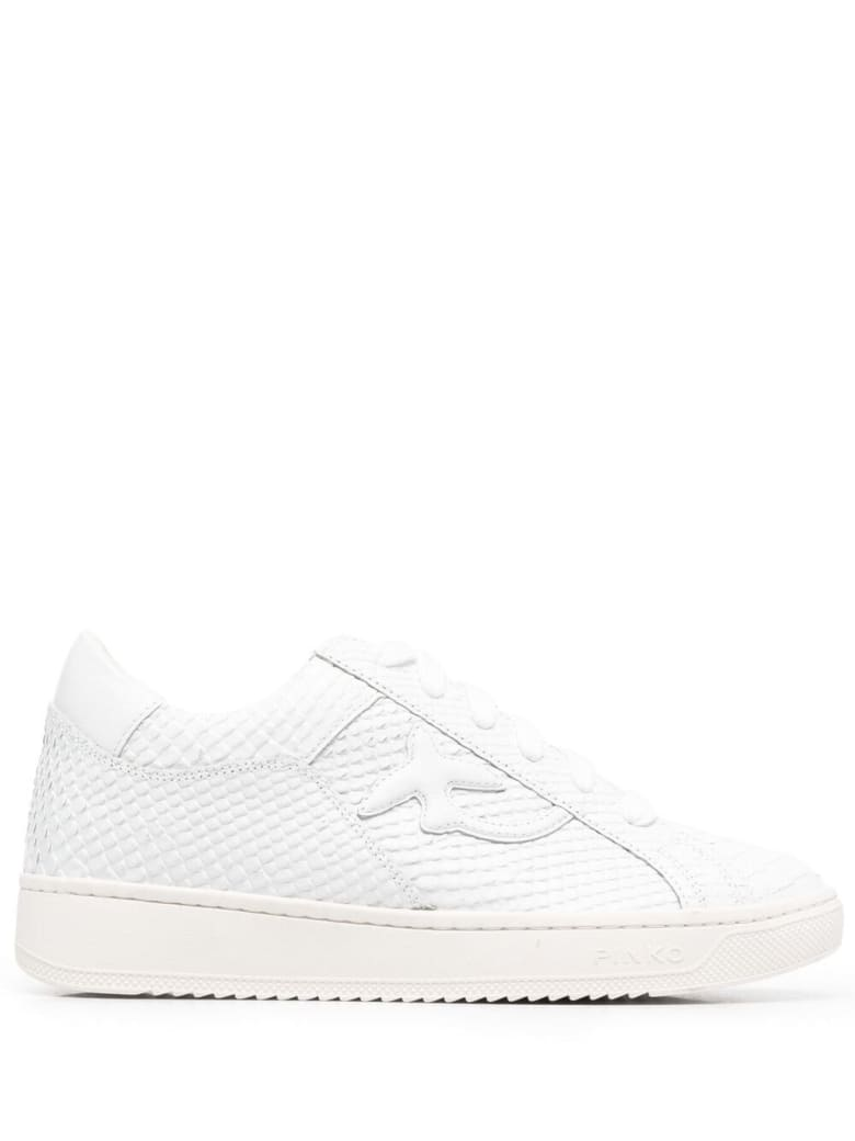 Pinko Licorice Low Leather Sneakers - White
