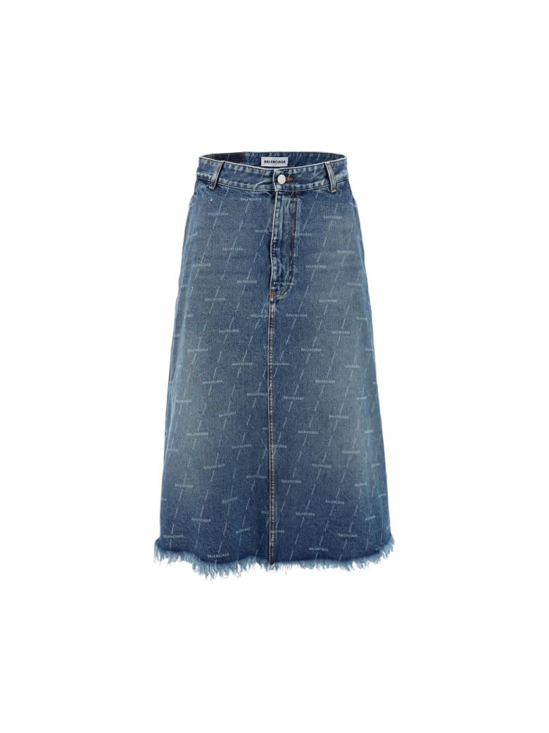 Balenciaga Denim Skirt - Denim blue