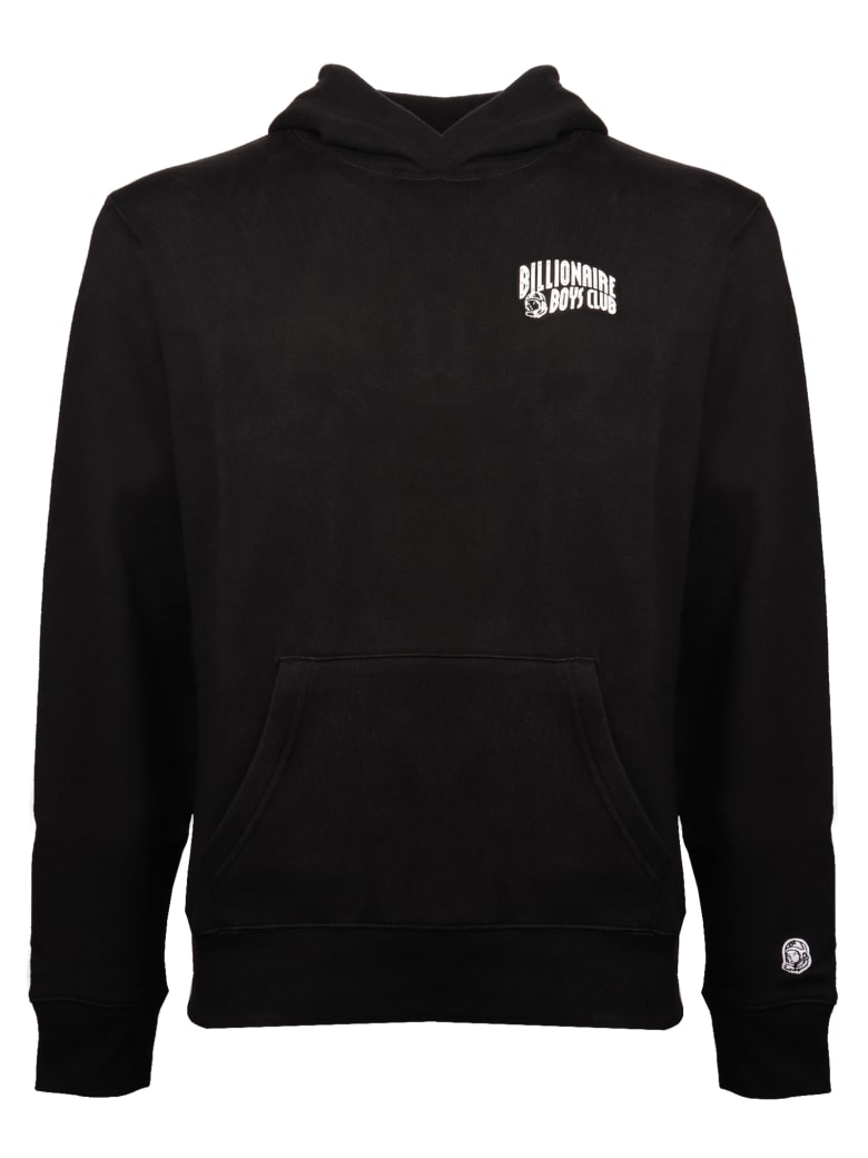 Billionaire Small Arch Logo Popover Hood - BLACK
