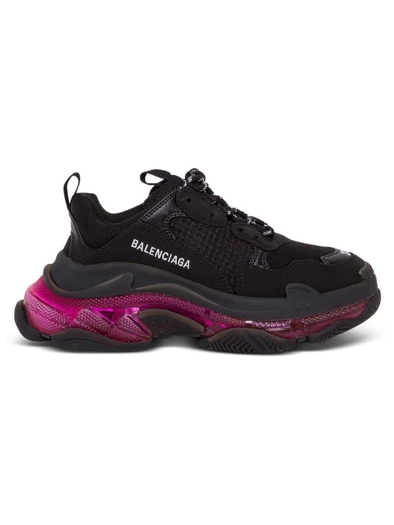 Balenciaga Ecoleather And Meshtriple S Sneakers - Black