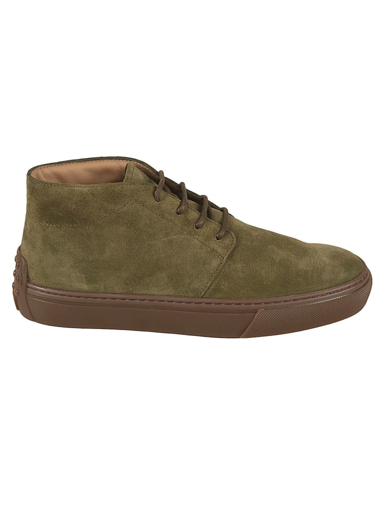 Tod's Polacco Cassetta Lace-up Boots - Green