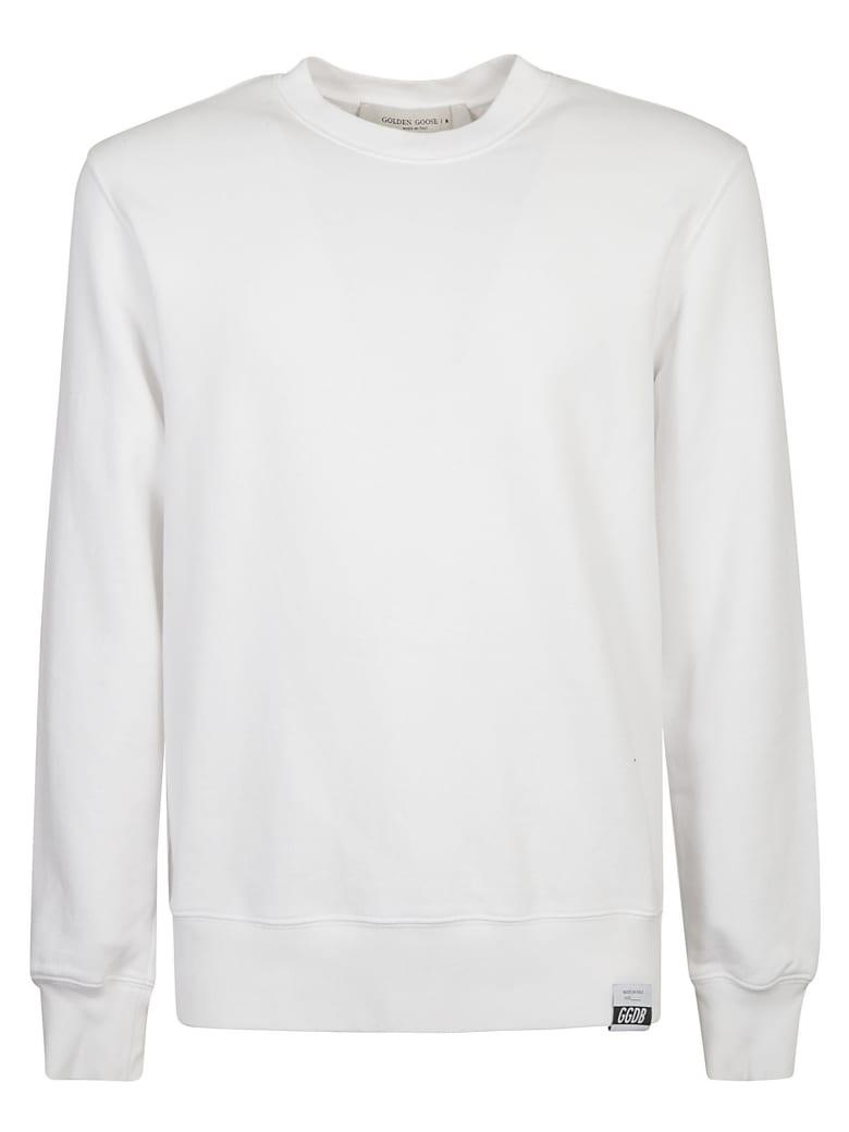 Golden Goose Archibald Regular Sweatshirt - White/Black/Pink