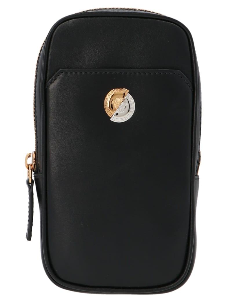 Versace 'medusa' Bag - Nero/oro/palladio