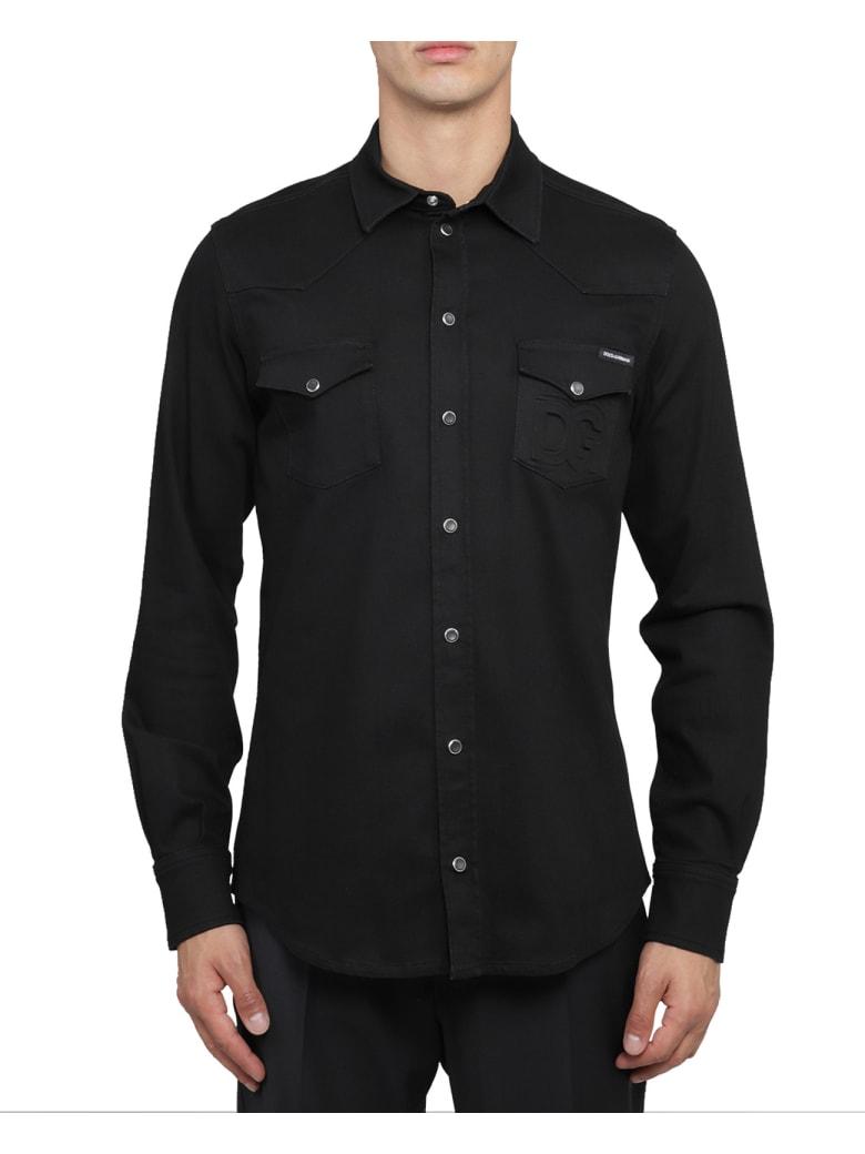 Dolce & Gabbana Black Denim Shirt - Black