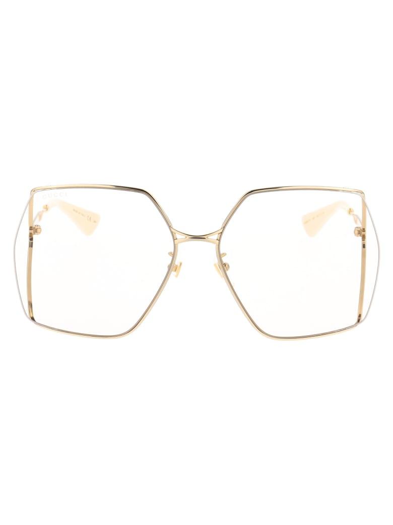 Gucci Gg0817s Sunglasses - 005 GOLD GOLD YELLOW