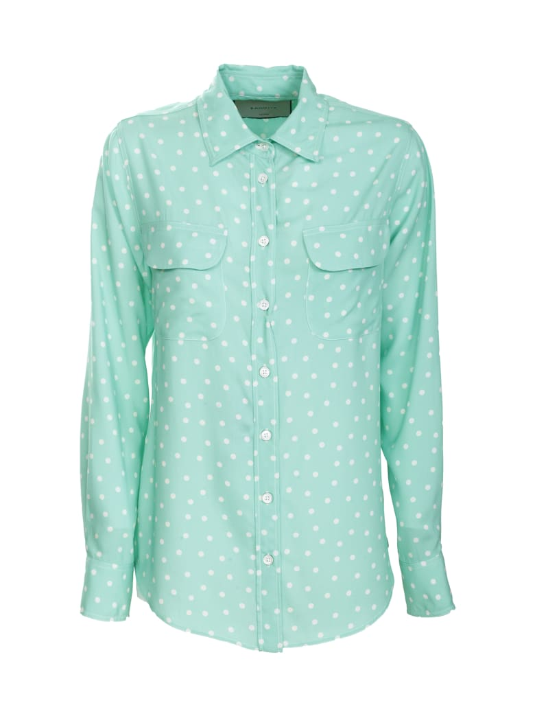Bagutta polka dot green shirt - Verde