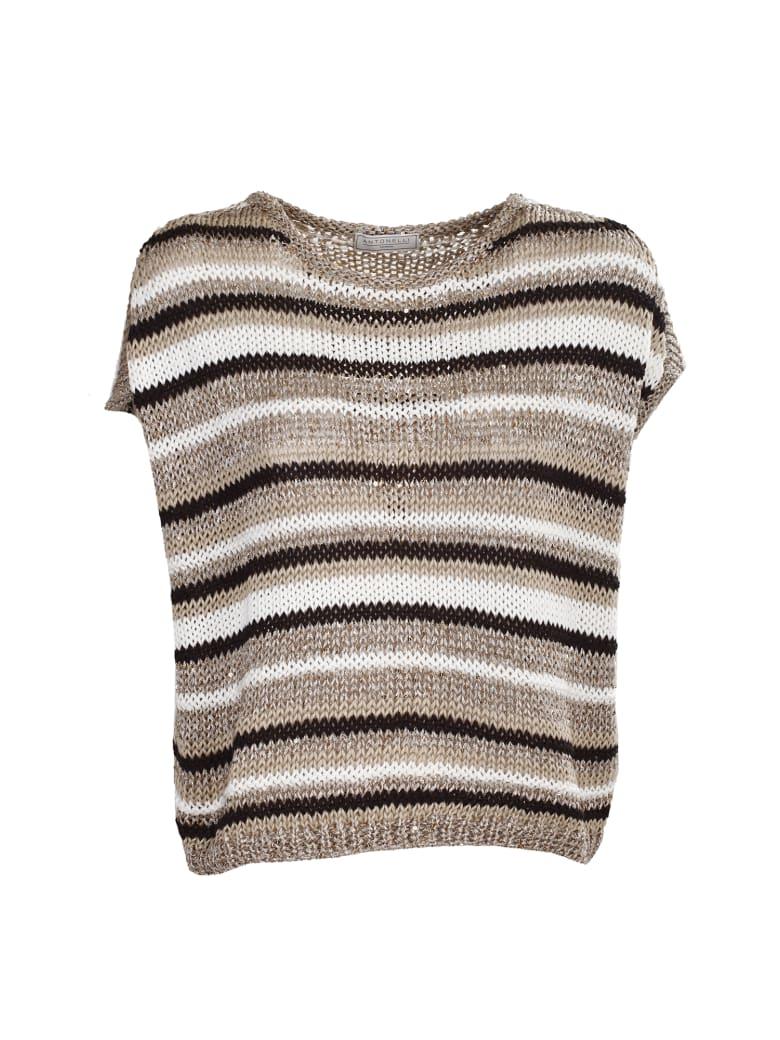 Antonelli cotton blend sweater - Righe